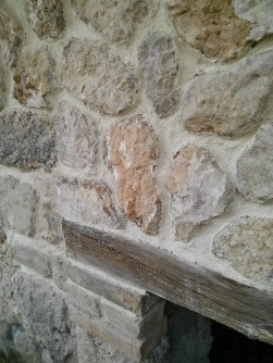 """Ruin restoration in Italy, plaster by paintbrush, this was """"my wall"""""""